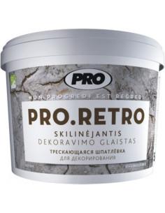 Skilinėjantis dekoravimo glaistas PRO.RETRO 5kg
