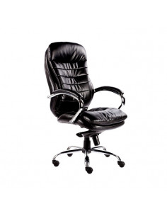 Kėdė biurui MALIBU Leather (juoda)
