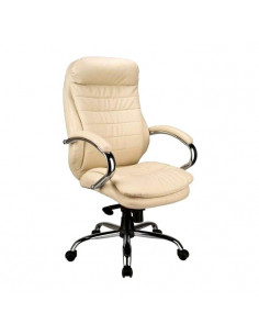 Kėdė biurui MALIBU Leather (kreminė)