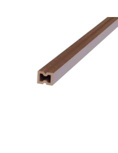 Skersinės sija pagrindui iš medienos ir plastiko kompozito WPC-8, Ruda spalva