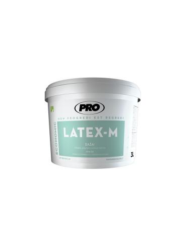 Dažai LATEX M PRO luboms, 3 klasė, matiniai, balti, 10L