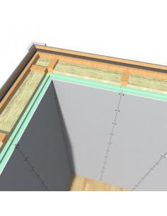 Poliuretano plokštė su gipso kartono plokšte FF-PIR GYL su įlaidomis, storis 40mm, matmenys 600x2600mm