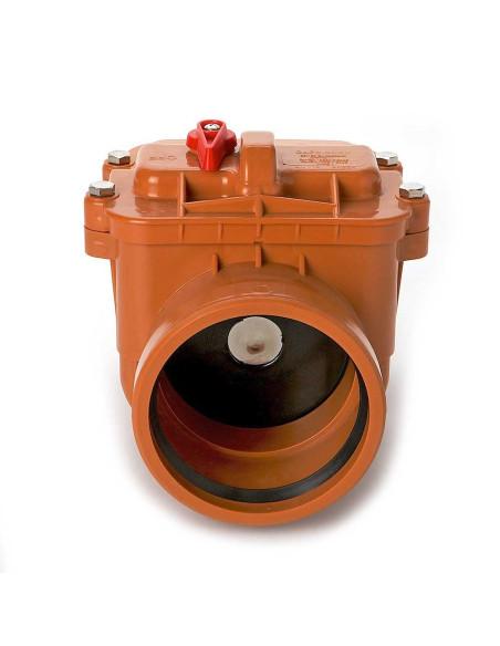Atbulinis vožtuvas lauko kanalizacijos PVC 110mm