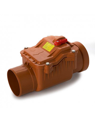 Atbulinis vožtuvas lauko kanalizacijos PVC 160mm
