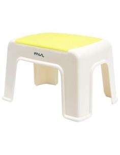 Kėdutė plastmasinė balta-geltona