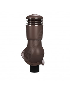 Ventiliacijos kaminėlis Perfekta K-49 Rudas RAL8017