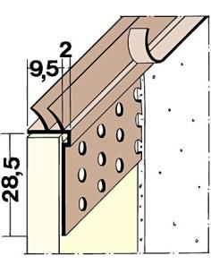 PVC užbaigimo profilis 3784 su apsaugine PVC juostele