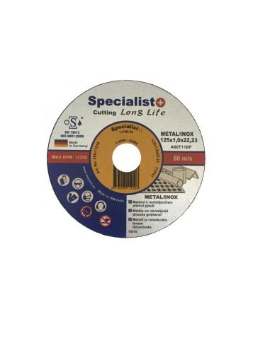 Diskas metalo pjovimui Specialist LongLife 125x1x22