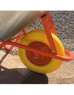 Karutis vieno rato statybinis 85L, dvigubu dugnu,  įkrova 170kg, nepraduriama padanga