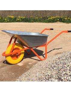 Karutis vieno rato statybinis 100L, dvigubu dugnu,  įkrova 200kg