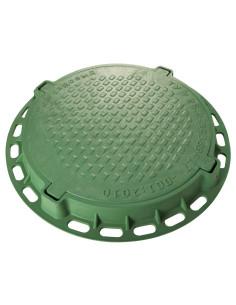 Dangtis su rėmu kanalizacijos šuliniui 790/625/590/82mm, spalva Žalia