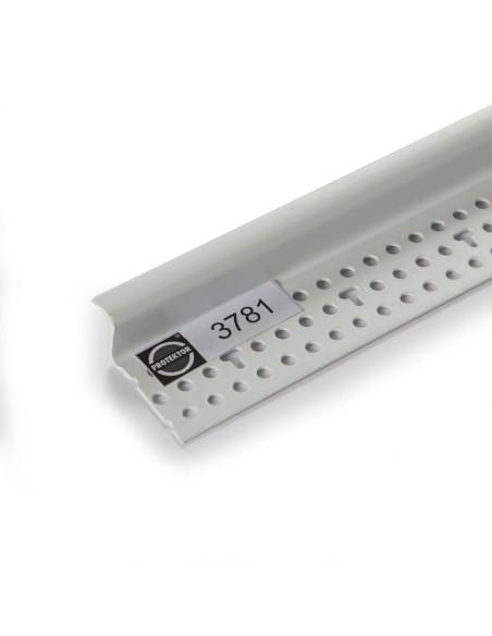PVC užbaigimo profilis 3781 su suformuota 6 mm pločio šešėline siūle 3.05m