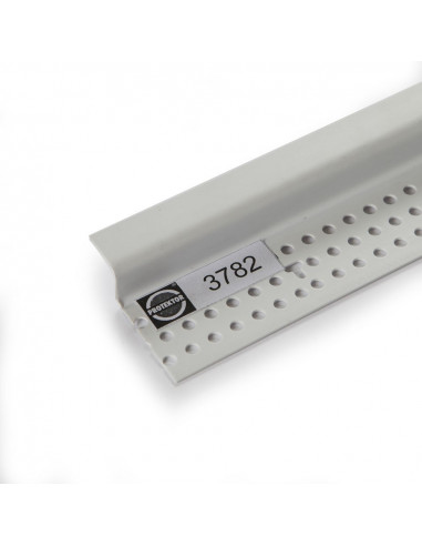 PVC užbaigimo profilis 3782 su suformuota 12 mm pločio šešėline siūle 3.05m