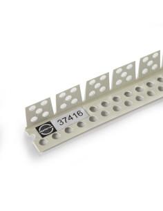 PVC lankstus apsauginis kampas skirtas lenktų gipskartonio plokščių kraštų apdailai 37416 2.6m