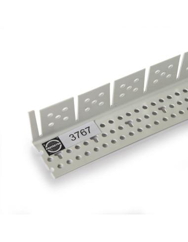 PVC lankstus apsauginis kampas skirtas lenktų gipskartonio plokščių kraštų apdailai 3767 3.0m