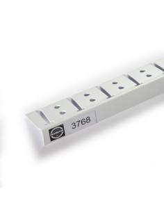 PVC lankstus užbaigimo profilis skirtas lenktų 10- 12,5mm gipskartonio plokščių kraštų apdailai 3768 3.0m