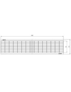Grotelės ACO latako (kanalo) Euroline/Hexaline cinkuoto plieno, tinklelio formos 30 x 10 grotelės  [0.5m] 310311