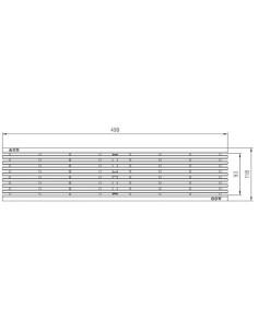 Grotelės ACO latako (kanalo) Euroline/Hexaline nerudyjančio plieno strypinės grotelės  [0.5m] 10324
