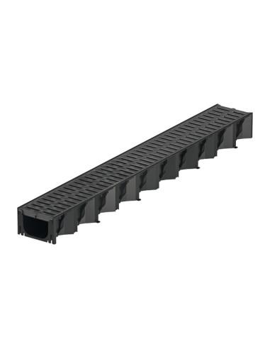 Plastikinis latakas (kanalas) ACO Hexaline 2.0 su plastikinėmis grotelėmis  [1m] 319310