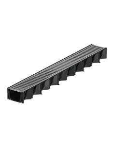 Plastikinis latakas (kanalas) ACO Hexaline 2.0 su cinkuoto plieno grotelėmis [1m] 319313