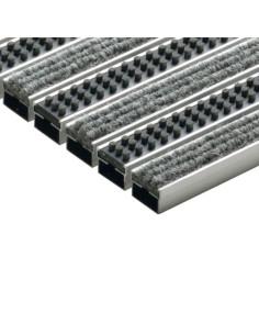 Batų valymo kilimėliai, šviesiai pilkos spalvos, veltinio ir kasetinio šepečio juostelės, 60 x 40 cm, ACO Vario 10702