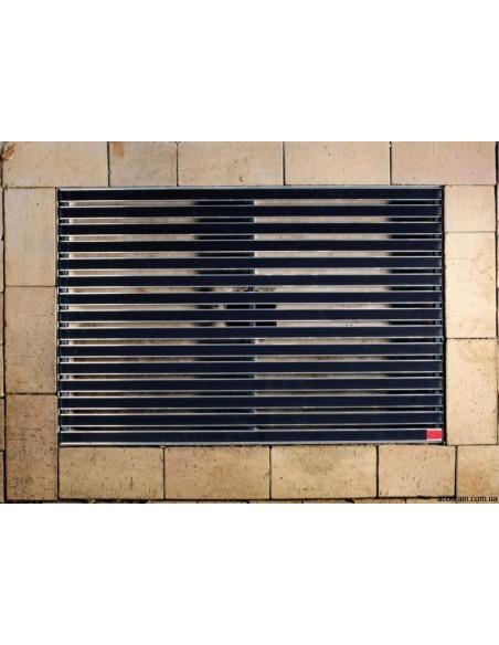 Batų valymo kilimėliai, juodos spalvos, guminės juostelės, 100 x 50 cm, ACO Vario 01215