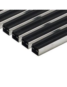 Batų valymo kilimėliai, juodos spalvos, guminės juostelės, 60 x 40 cm, ACO Vario 01213