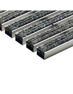 Batų valymo kilimėliai, šviesiai pilkos spalvos, veltinio juostelės, 60 x 40 cm, ACO Vario 02180
