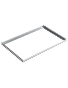 Batų valymo vonelės stačiakampis aliuminio rėmas  100 x 50 cm ACO Vario 01997