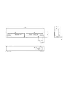 Polimerbetonio latakas (kanalas) ACO Gala G100 be grotelių [1m] 08299 Nr. 1