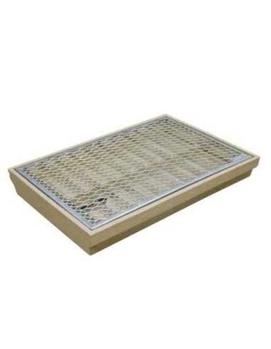 Batų valymo vonelės su grotelėmis komplektas 60 x 40 cm ACO 00353