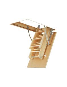Segmentiniai sulankstomi laiptai su medinėmis kopėčiomis LWS Smart 55x111cm, h 280cm FAKRO