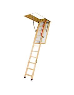 Segmentiniai sulankstomi laiptai su medinėmis kopėčiomis LTK Energy 70x130cm, h 305cm FAKRO