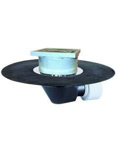 HL64.1BH Įlaja stogams, polimeriniu bituminiu lakštu Ø500 mm, horizontaliu išleidimu, su integruotu elektriniu šildymo kabeliu