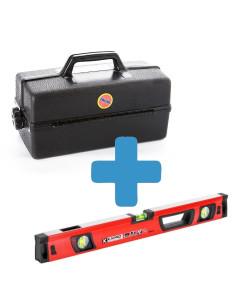 Rinkinys - Gulsčiukas KAPRO VULCAN 150cm ir dėžę įrankiams
