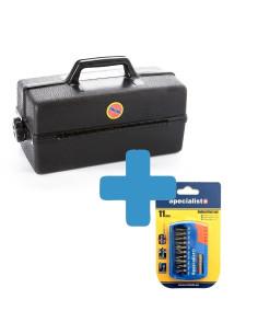Rinkinys - Antgalių komplektas ir dėžė įrankiams