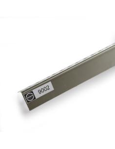 Kampas glaistymo aliuminis pusinis (puskampis) 90° 25x25mm 2.5m 9002