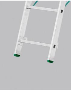 Kopėčios aliuminės, universalios, dvipusės, ištraukiamos, 3 dalių EUROSTYL, 3x7 pakopų, 201-399cm