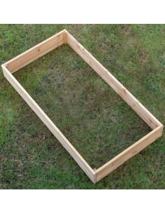Pakeltos lysvės (dviguba), medinės, 200x100cm, aukštis 22cm
