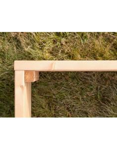 Pakeltos lysvės (vienguba), medinės, 100x100cm, aukštis 22cm
