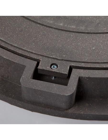 Dangtis su rėmu kanalizacijos šuliniui 760/55mm, spalva Juoda,  su užraktais, kompozitinis