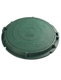 Dangtis su rėmu kanalizacijos šuliniui 760/55mm, spalva Žalia,  su užraktais, kompozitinis