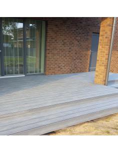 Terasinė lenta iš medienos-plastiko kompozito WPC-P, Pilka spalva