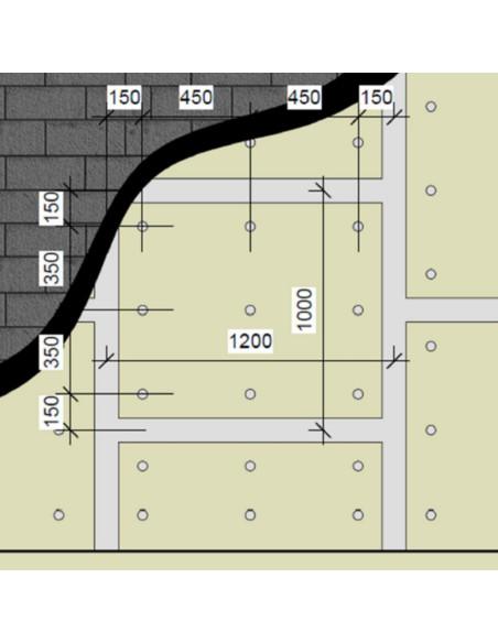 Garso akustinė izoliacinė plokštė SW-10, kompozitas GKP+Guma, 1200x1000mm