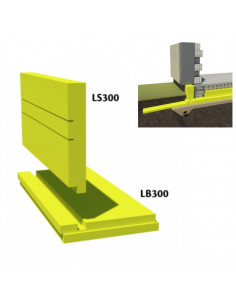 Finnfoam plokštuminių pamatų sistemos plokštė LS300