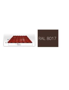 Išpardavimas! Plieninė stogo danga BORGA ELEGANT, spalva RAL8017, lapo ilgis 640cm