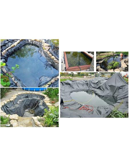 PVC plėvelė DELTA Teichfolie tvenkiniams ir baseinams, atspari šaknims ir puvimui, storis 0.5mm, plotis 8.0m