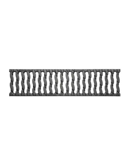 Rinkinys - Polimerbetonio latakai (kanalai) SELF 100 su ketaus grotelėmis ANRIN - 3 metrai su pajungimu ir galinės sienutėmis