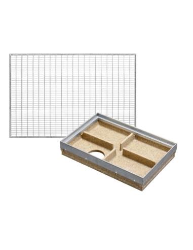 Rinkinys - Batų valymo vonelė su plieno briauna + cinkuoto plieno tinkleliu 9x31mm, 60 x 40 cm, ANRIN