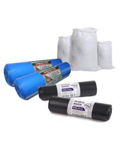 Rinkinys - Maišai po statybos darbų - 10 vnt. maišų  410L Extra strong + 10 vnt maišų 240L STIPRŪS + 20 polipropileninių maišų